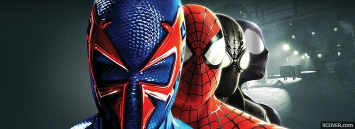 Photo Spider-Man Team Facebook Cover for Free