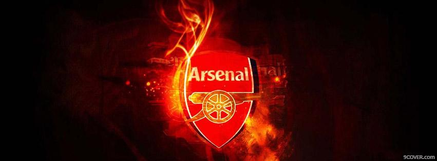Photo Arsenal Fire Logo Facebook Cover for Free
