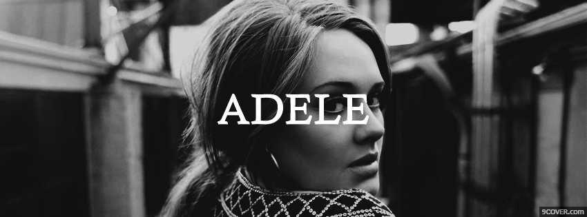 Photo Adele Facebook Cover for Free