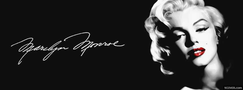 Marilyn Monroe facebook cover