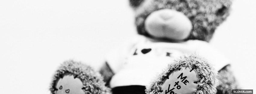 Photo Cute Teddy Love You Facebook Cover for Free