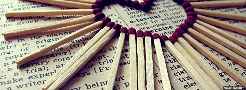 Photo Hearth With Fire Matches  Facebook Cover for Free