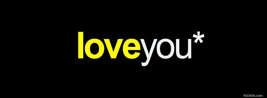 Photo Love You Facebook Cover for Free