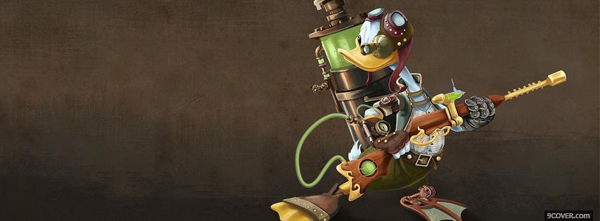 Photo Donald Duck Steampunk Facebook Cover for Free