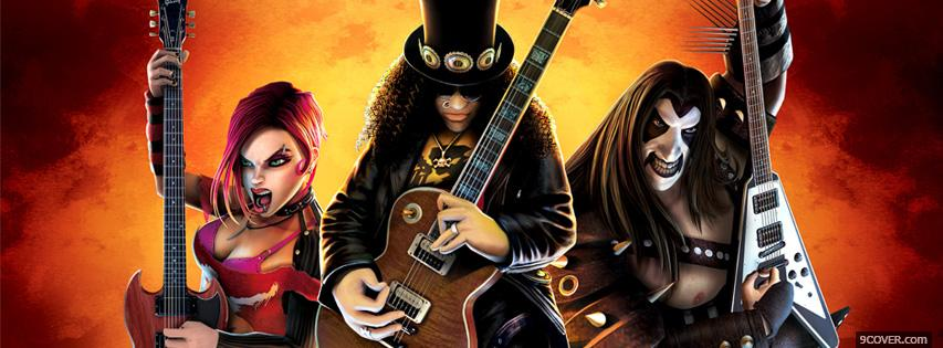 Photo Guitar Hero  Facebook Cover for Free