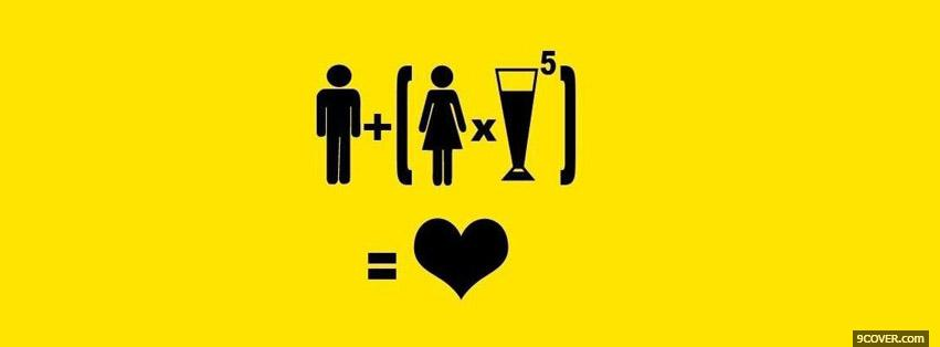 Photo Beer Equation Facebook Cover for Free
