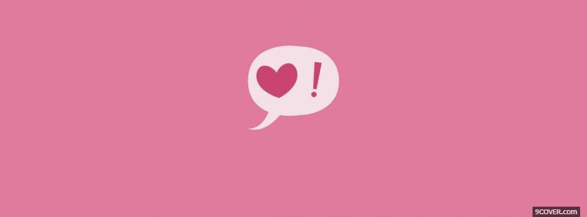 Photo Pink Love  Facebook Cover for Free