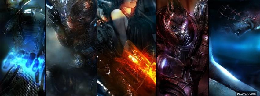 Photo Mass Effect 3 Facebook Cover for Free