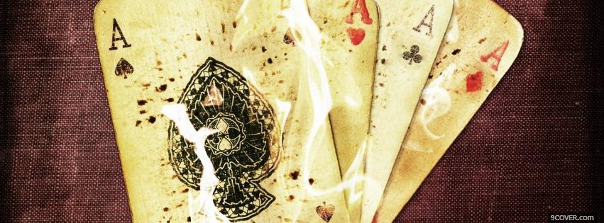 Photo Burning Aces Facebook Cover for Free