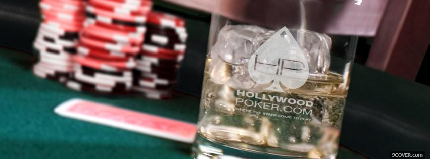 Photo Poker Table On The Rocks Facebook Cover for Free