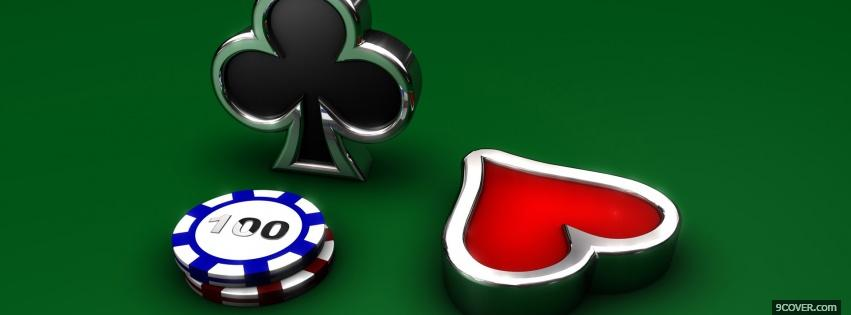 Photo Royal Flush Facebook Cover for Free