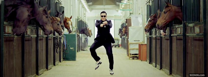 Photo Gangnam Style Facebook Cover for Free