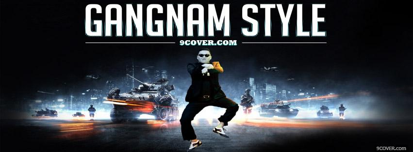Photo Gangnam Style Psy  Facebook Cover for Free