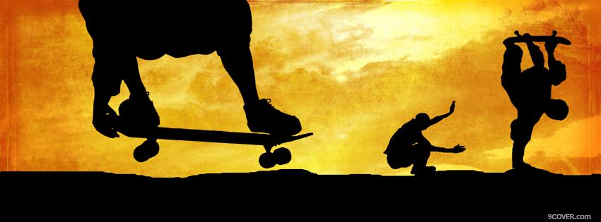 Photo Skateboarding Facebook Cover for Free