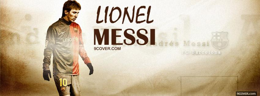 Photo Messi Barcelone Fb Facebook Cover for Free
