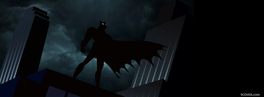Photo Batman Facebook Cover for Free