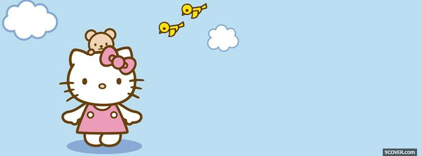 Photo Hello Kitty Facebook Cover for Free