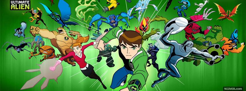 Photo Ben 10 Ultimate Alien Facebook Cover for Free