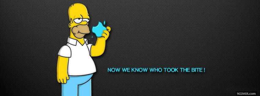 Photo Homer Simpson Facebook Cover for Free