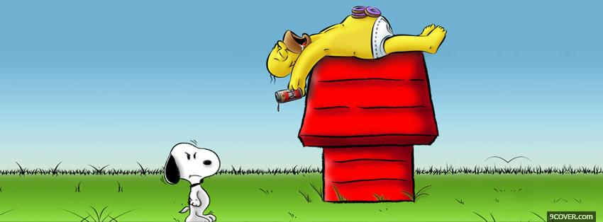 Photo Homer And Snoopy Facebook Cover for Free