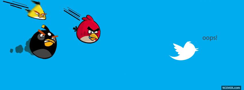 Photo Angry Birds With Twitter Facebook Cover for Free