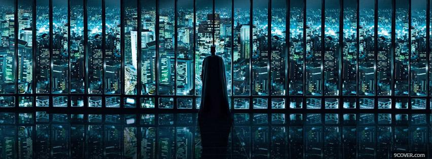 Photo Batman House View Facebook Cover for Free