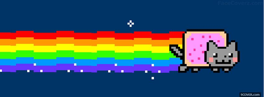 Photo Nyan Cat Facebook Cover for Free