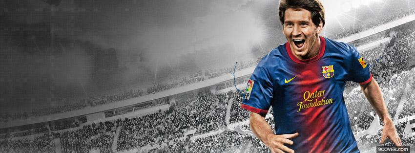 Photo Messi Fifa 2013  Facebook Cover for Free
