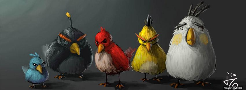 Photo Angry Birds Adult  Facebook Cover for Free