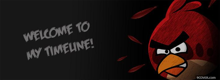 Photo Welcome Timeline Angry Birds Facebook Cover for Free
