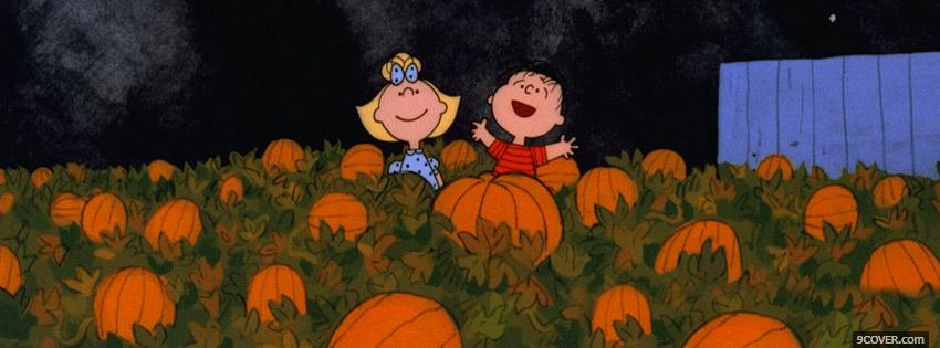 Photo The Great Pumpkin Halloween Facebook Cover for Free