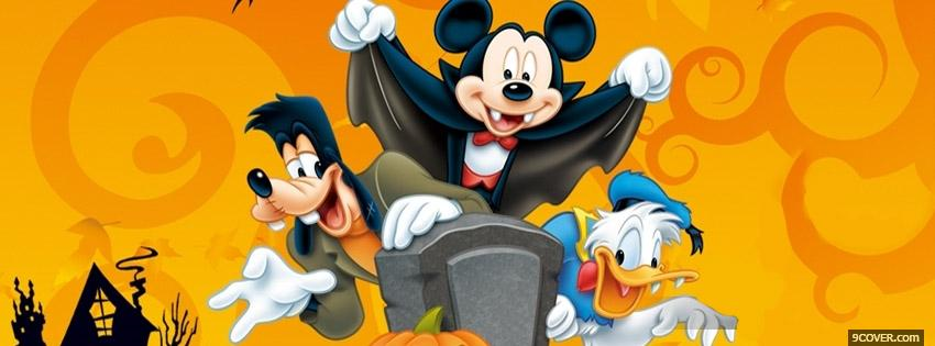 Photo Mickey Mouse Halloween Facebook Cover for Free