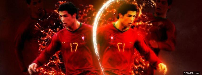 Photo Cristiano Ronaldo Portugal Facebook Cover for Free