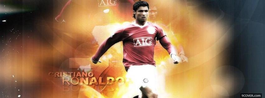 Photo Cristiano Ronaldo Fire Facebook Cover for Free