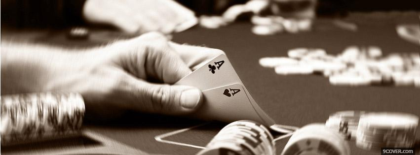 Photo Black Jack Poker Facebook Cover for Free