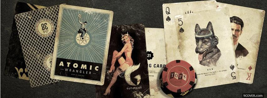 Photo Poker Cards Facebook Cover for Free