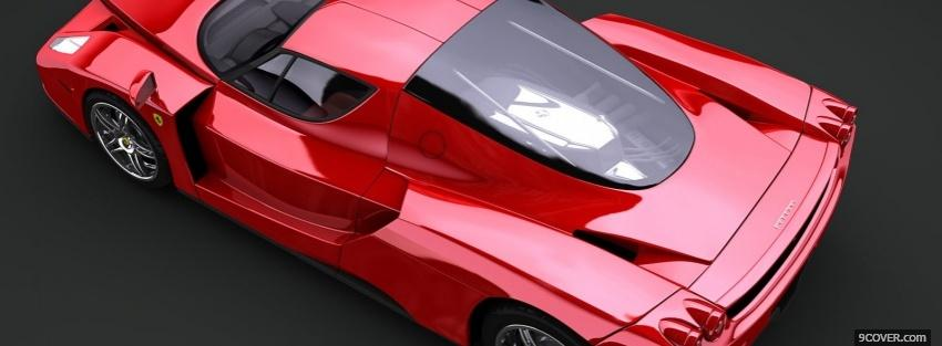 Photo Ferrari Enzo Facebook Cover for Free