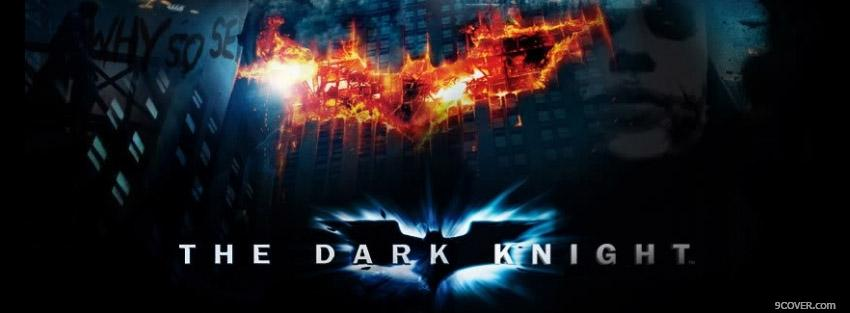 Photo Batman The Dark Night  Facebook Cover for Free