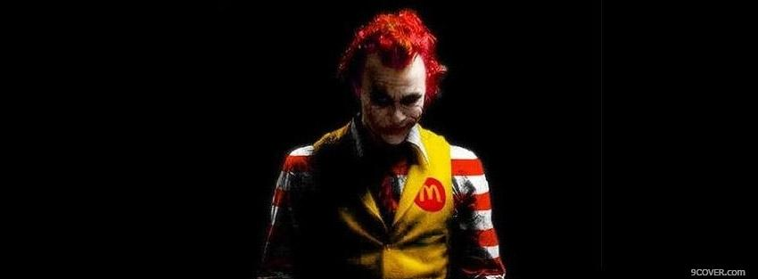 Photo Ronald Mcdonald Joker Facebook Cover for Free