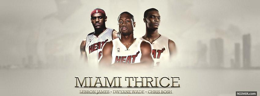 Photo Miami Heat Facebook Cover for Free