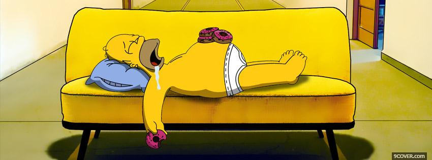 Photo The Simpsons Facebook Cover for Free