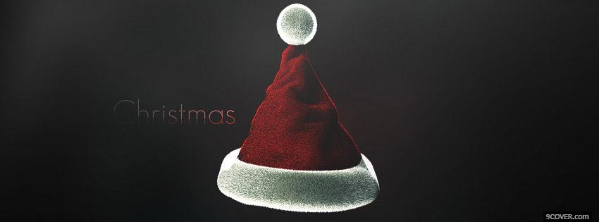 Photo Christmas Hat Facebook Cover for Free