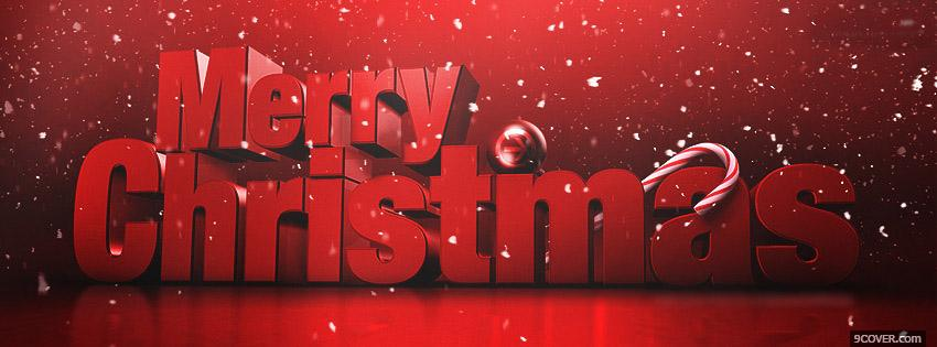 Photo Merry Christmas Facebook Cover for Free