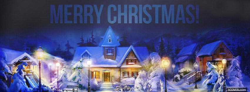 Photo Merry Christmas Holidays Facebook Cover for Free