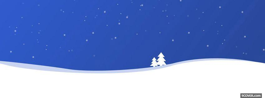 Photo Snowy Christmas Trees  Facebook Cover for Free