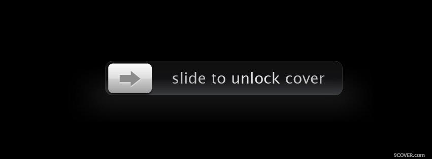 Photo Slide To Unlock Facebook Cover for Free