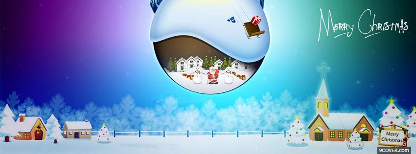 Photo Awesome Merry Christmas Facebook Cover for Free
