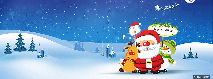 Photo Merry Fb Christmas Facebook Cover for Free