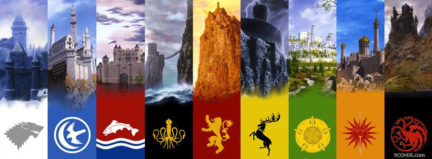 Photo Houses Of Game Of Thrones 2 Facebook Cover for Free