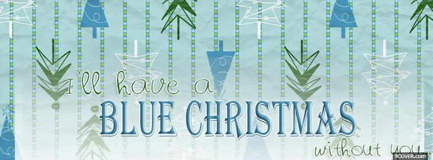 Photo Blue Christmas Facebook Cover for Free